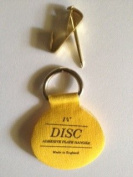 eBarb's Original English Plate Hanger Disc Kit--Quantity of FOUR of the 2.5cm Discs, Hooks and Nails