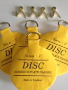 eBarb's Original English Plate Hanger Disc Kit--Quantity of Four of the 7.6cm Discs, Hooks and Nails