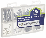 The Hillman Group 591533 Medium Aluminium Wire Nail Assortment 175-Pack