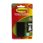 Command Picture Hanging Strips with Adhesive Medium, Black - 4 ea, 6 pack