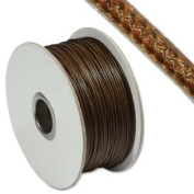 Faux Snakeskin Leather 1mm Brown Round