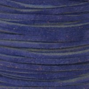 Genuine Split Suede Leather Lace Cord 3mm Blue