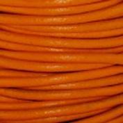 Genuine Leather Cord 2mm Orange