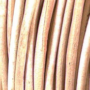 Genuine Leather 3mm Natural Round
