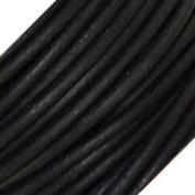 Genuine Leather 3mm Black Round