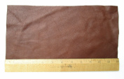 A-1 Upholstery Leather Piece Cowhide Medium Brown Lt Wt 1/2 Sf