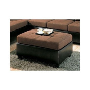 Harlow Two Tone Ottoman by Coaster Furniture