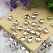 Come2Buy 100pcs 7MM ANTIQUE Silver Round Dome Metal Studs Spots Nailheads Fastners