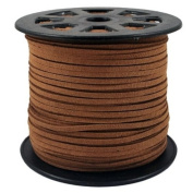 BeadsTreasure Burly Wood Suede Cord Lace Leather Cord For Jewellery Making 3x1.5 mm-20 Feet.