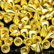 Adored Bullet Screwback Studs 20pcs 25*10MM GOLD Cone Spikes Leathercraft DIY Goth Punk Steel Spots