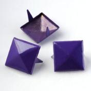 Purple 3d Sqare Metal Cone DIY Studs Claw Rivet Nailhead Spots Leather Craft 100pcs