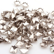 Generic Cool Silver Pyramid Studs Spots Nailheads 6mm Cone Studs Rivet For Diy Pack Of 100
