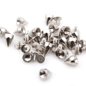 Generic Sliver Punk Spikes Nailhead Rivet Cone Studs For DIY Shoes Jacket Leather Craft