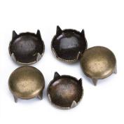 50pcs Round Studs Spots Nailheads 9mm Antique Brass