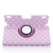 Topchances (Polka Dot) Slim Fit Leather Case Cover Auto Sleep/Wake for Kindle Fire HDX 23cm Inch Tablet-Pink