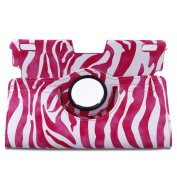 Topchances Luxury Fashion Zebra Print 360 Degreee PU Leather Smart Cover for Kindle Fire HDX 23cm (wake/sleep capability)-Pink
