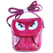 Mr. Pink Owl - Leather Pink Owl Shoulder Bag