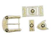 Springfield Leather Company's 6pc Buckle Set, Stars, Silver/Gold