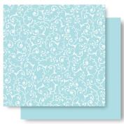 Best Creation 30cm by 30cm Basic Glitter Paper, Sky Swirl