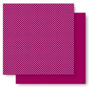 Best Creation 30cm by 30cm Basic Glitter Paper, Plum Dot