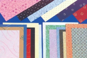 Shizen Design Decorative Printed and Embroidered Papers - 8 1/2 x 11 - Pack of 66