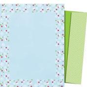 Mara-Mi Letterhead Blue Flakes, 22cm x 28cm ,100 sheets/envelopes