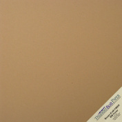 150 Sheets Brown Kraft Fibre 80 lb Cover Weight 30cm X 30cm Cardstock Paper Scrapbook Album Size by ThunderBolt Paper