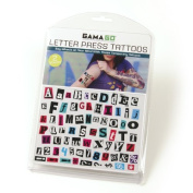 Gamago Letter Press Temporary Tattoos