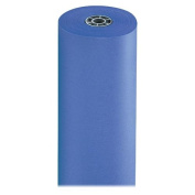 NEW - Rainbow Duo-Finish Coloured Kraft Paper, 35 lbs., 90cm x 1000 ft, Royal Blue - 63200
