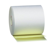 PM Company Perfection 2 Ply POS/Cash Register Rolls, 8.3cm x 125 Feet, White/Canary, 50 per Carton