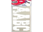 Tulip Iron On Transfer Spirit Letters Multi Pk Wht