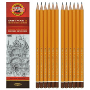Koh-i-noor 12 Professional Graphite Pencils. 1500/10H