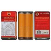 Koh-i-noor 12 Technic Professional Graphite Pencils - Hard Grades 1502/I