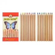 Koh-i-noor 18 Jumbo Natur Coloured Pencils with Special Finish. 2173