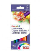 Pentel Coloured Pencil Assortments set of 12 [PACK OF 6 ]
