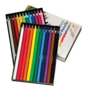 3 Pack WOODLESS colour PENCILS SET/24 Drafting, Engineering, Art