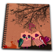 Dooni Designs Valentines Day and Love Designs - Cute Little Love Birds Under a Tree Vector Illustration - Drawing Book