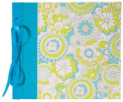 Books by Hand BBHK140-4 Ribbon Bound 20cm by 20cm Scrapbook, Turquoise