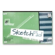 Mead : Sketch Pad, Medium Weight, 30cm x 23cm , 50 Sheets, White -:- Sold as 2 Packs of - 1 - / - Total of 2 Each