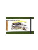 Hand Book Journal Co. Travelogue Drawing Journals 8.9cm . x 14cm . landscape cadmium green [PACK OF 2 ]