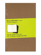 Moleskine Cahier Journals kraft brown, blank 8.9cm . x 14cm . pack of 3, 64 pages each [PACK OF 3 ]