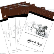 "Wennow ""9"""" × 12"""" (22.8cm × 30.4 cm)30 Sheets+40 Sheets Sketch Book Paper Pad Set of 10 """