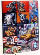 "Custom Printed Sketchbook ""Misfits Show"" Designed By Graffiti and Pop-Art Artist Erni Vales"