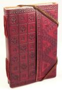 Handmade Leather Bound Journal - Embossed - Fair Trade