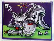 "Custom Printed Sketchbook ""Bad Dog App"" Designed By Graffiti and Pop-Art Artist Erni Vales"
