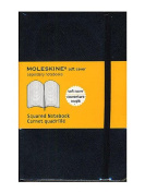 Moleskine Classic Soft Cover Notebooks graph 8.9cm . x 14cm . 192 pages [PACK OF 3 ]