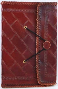 Southwest Side Stitched Leather Blank Book Large