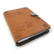 Da Vinci Refillable Embossed Leather Journal, 15cm x 23cm