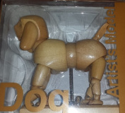 Wooden Moveable Bendable Articulated Posable Dog Artist's Model