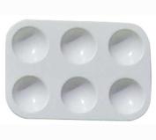 6-Well White Plastic Palette